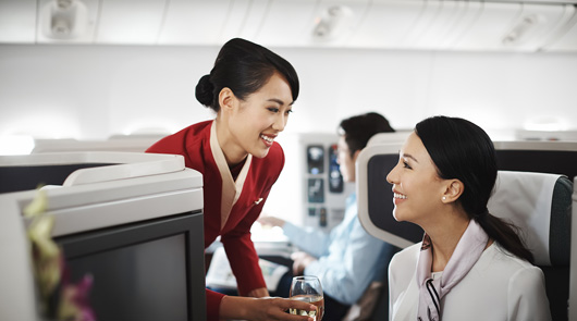 "With new branding, lounges and inflight products, and its signature Service Straight from the Heart, Cathay Pacific's ""Life Well Travelled"" brand philosophy focuses on enhancing customers' overall travel experience."