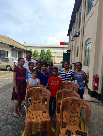They may be only plastic chairs, but they have helped put smiles on the faces of children and volunteers at a Colombo community centre.