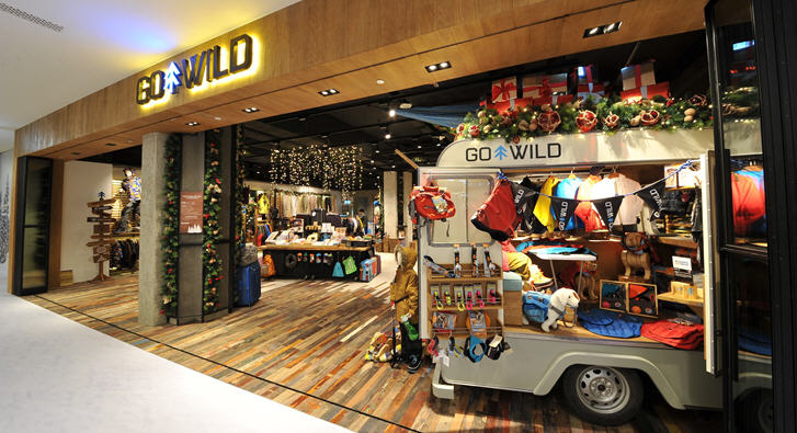 Go Wild sells a wide range of exciting outdoor apparel and equipment.