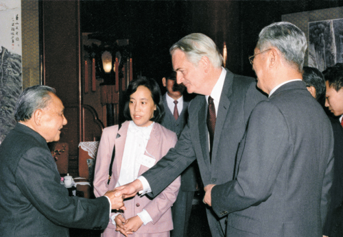 Meeting with the late Chinese leader Deng Xiaoping in Beijing, 1980s.