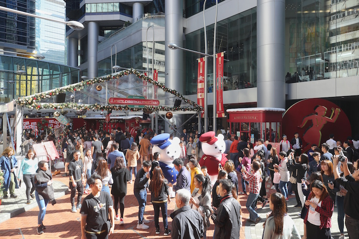 Santa Express was the theme of the Swire Properties White Christmas Street Fair.