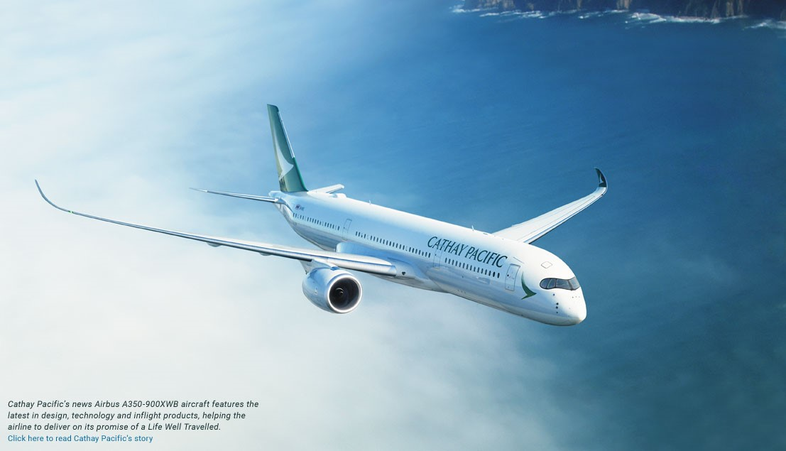 First A350 joins CX fleet