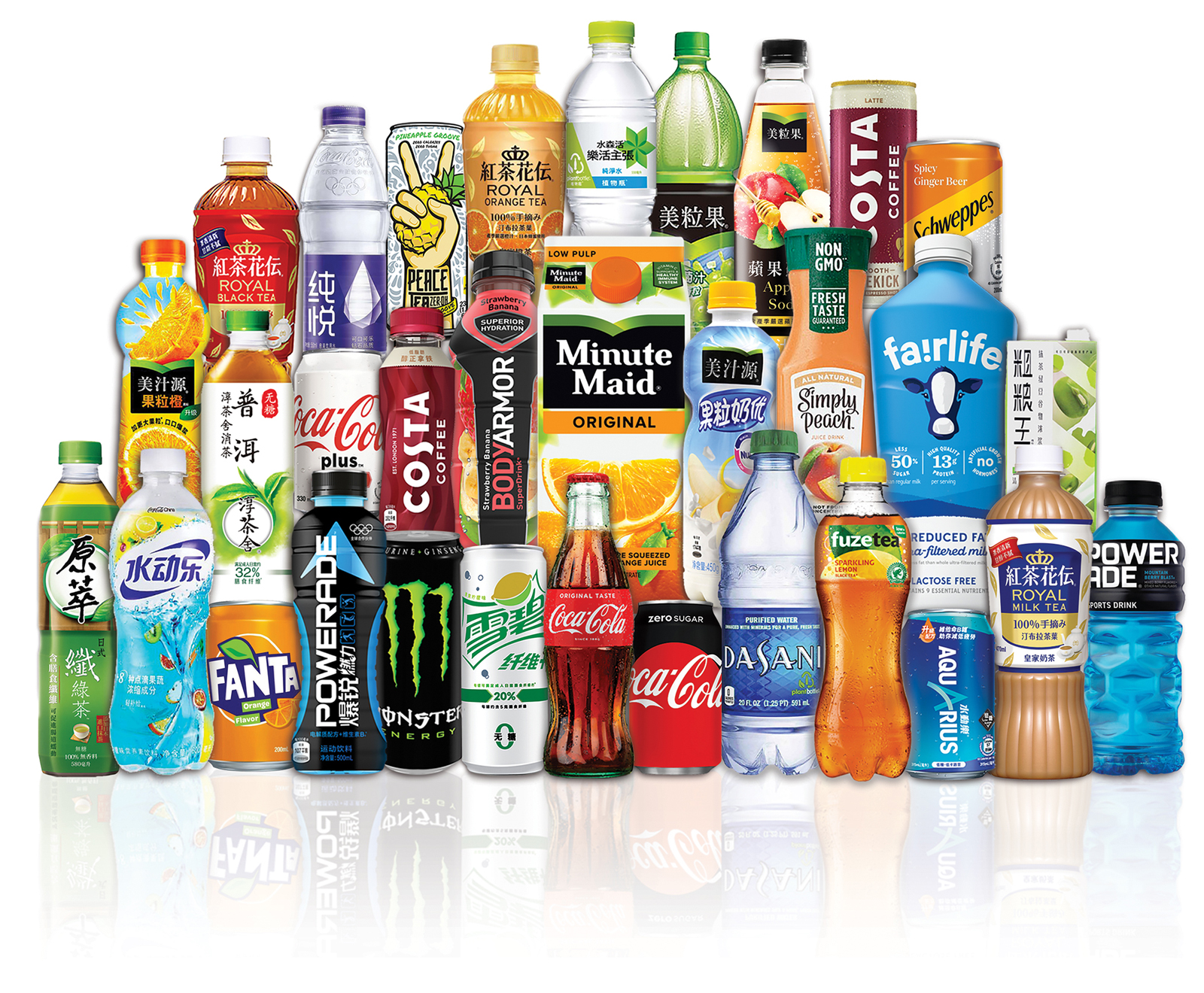 Swire Coca-Cola offers an extensive portfolio of beverage products.